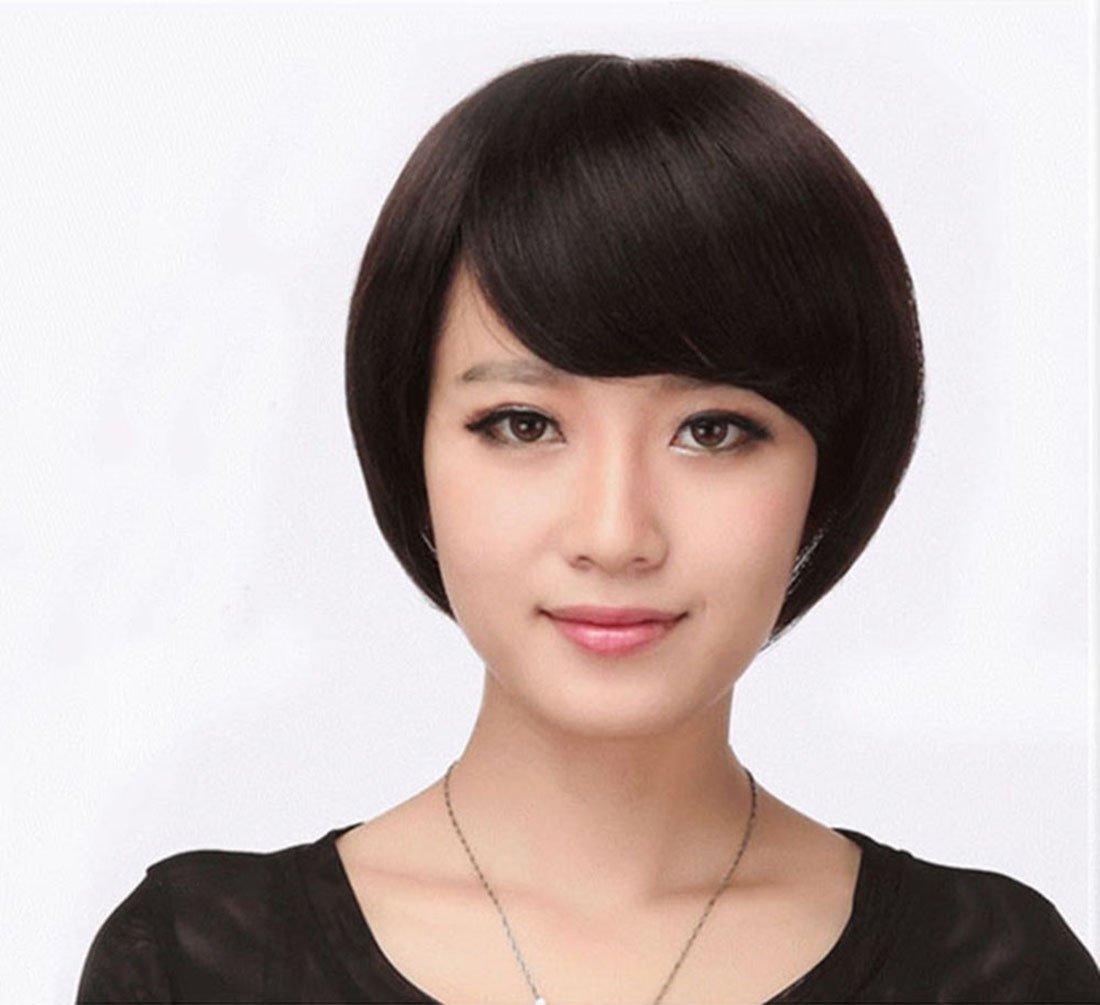 德尼雅 女假发中老年 妈妈假发 短直发 女士气质假发套 短发 (浅棕色)