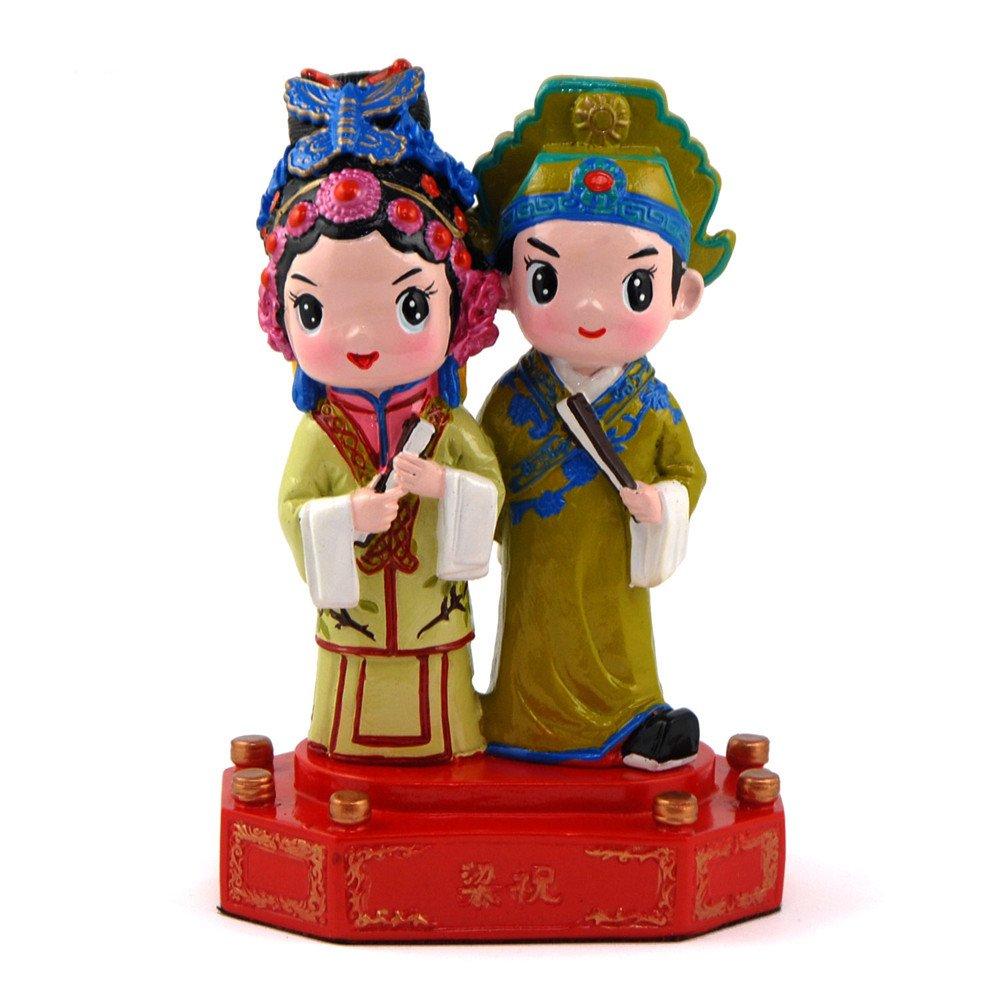 稻禾 戏剧人物情侣娃娃工艺品 家居新房装饰摆件 中国