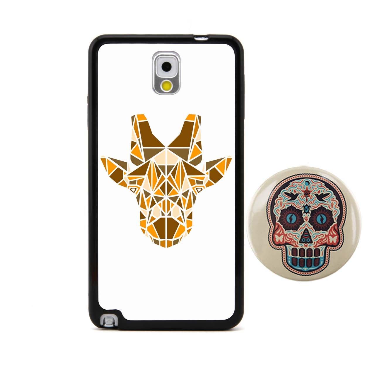 长颈鹿 3d多边形动物头像浮雕设计风格 塑料 tpu手机壳 手机套 适用于