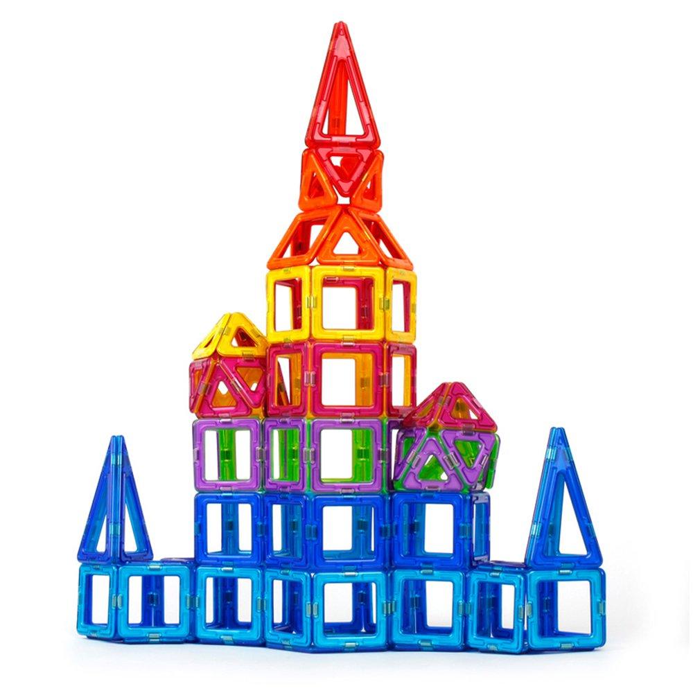 丸子宝贝 儿童益智磁力片玩具3岁以上 积木构建启蒙智力玩具 套餐二