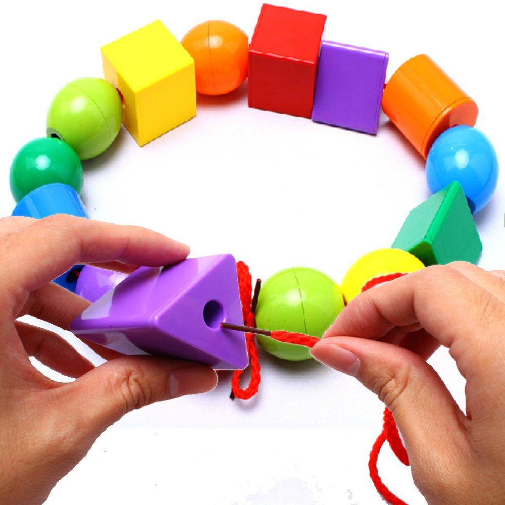 凯迪宝 宝宝串珠子玩具 益智婴儿玩具 儿童早教益智积木玩具 益智串珠