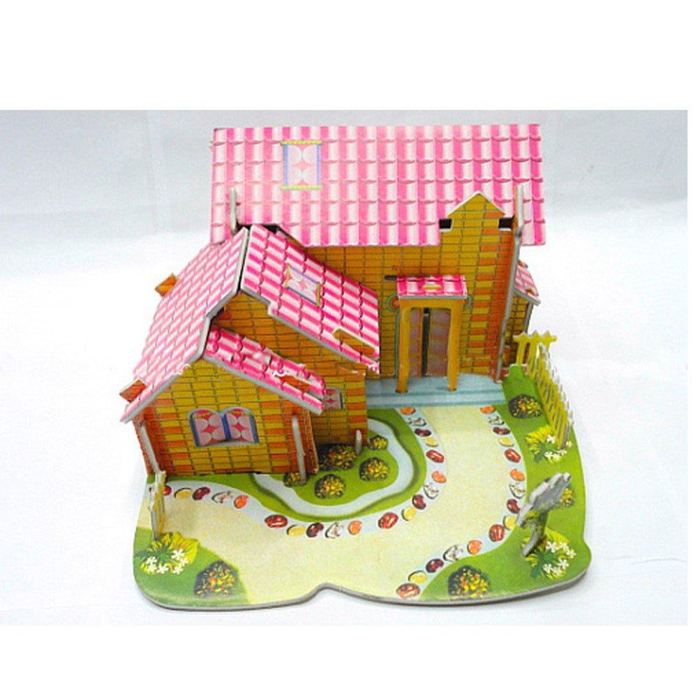 3d立体拼图玩具创意diy手工纸模型小屋军舰赛车飞机