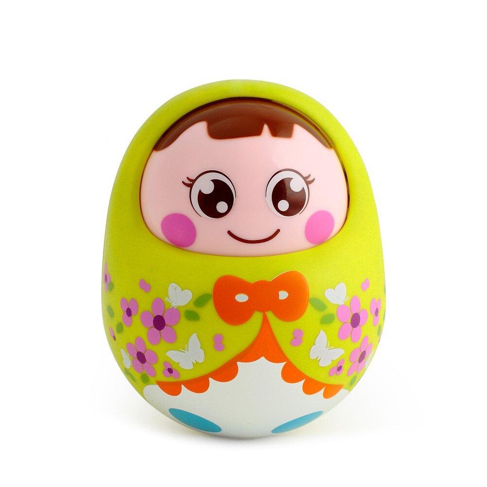 汇乐 点头不倒翁娃娃大号 可爱幼儿宝宝益智玩具不倒翁0-1岁 (绿色)