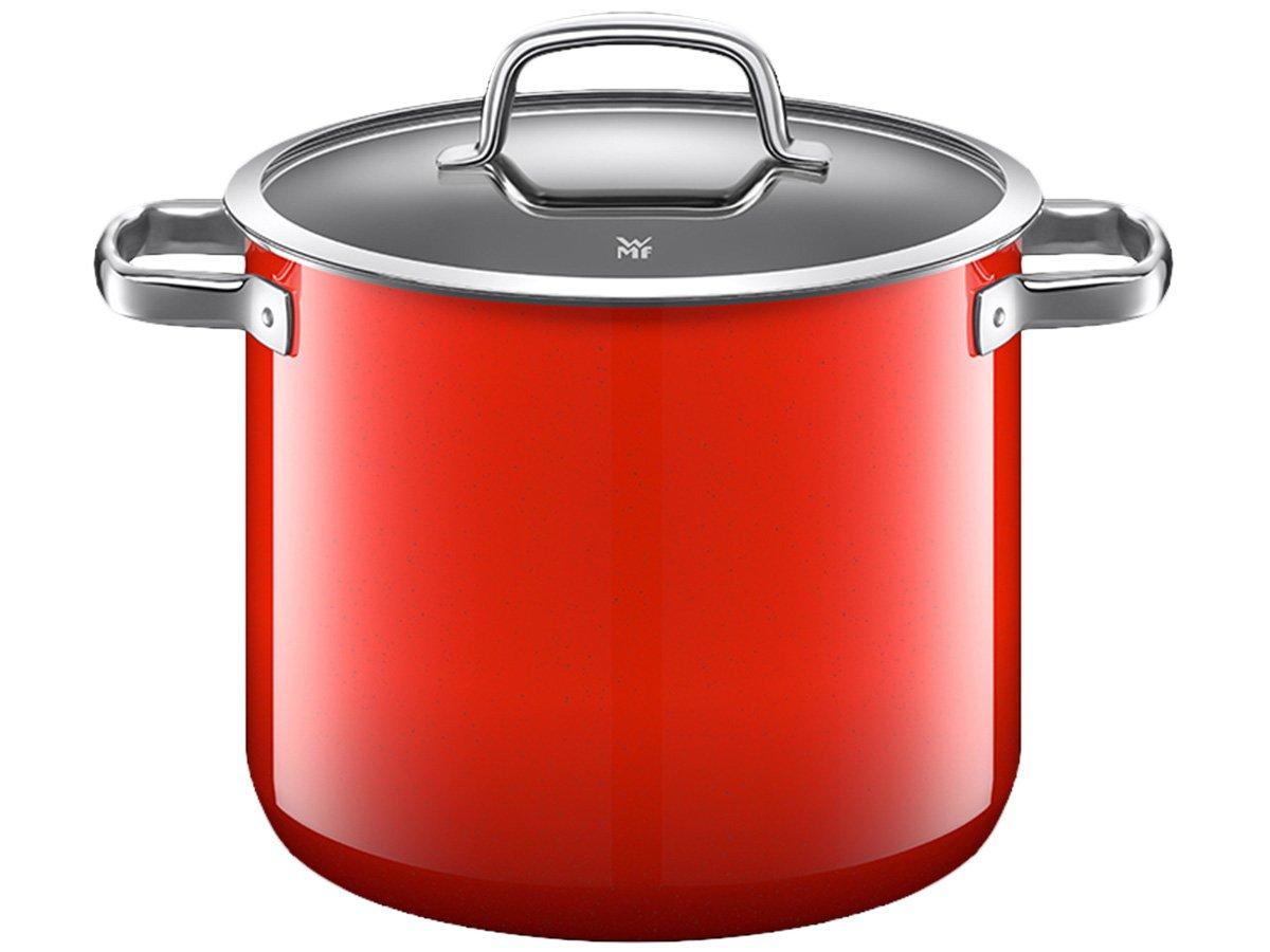 wmf 福腾宝 德国原装进口 naturamic奈彩米厨房多用红色深炖锅汤锅24