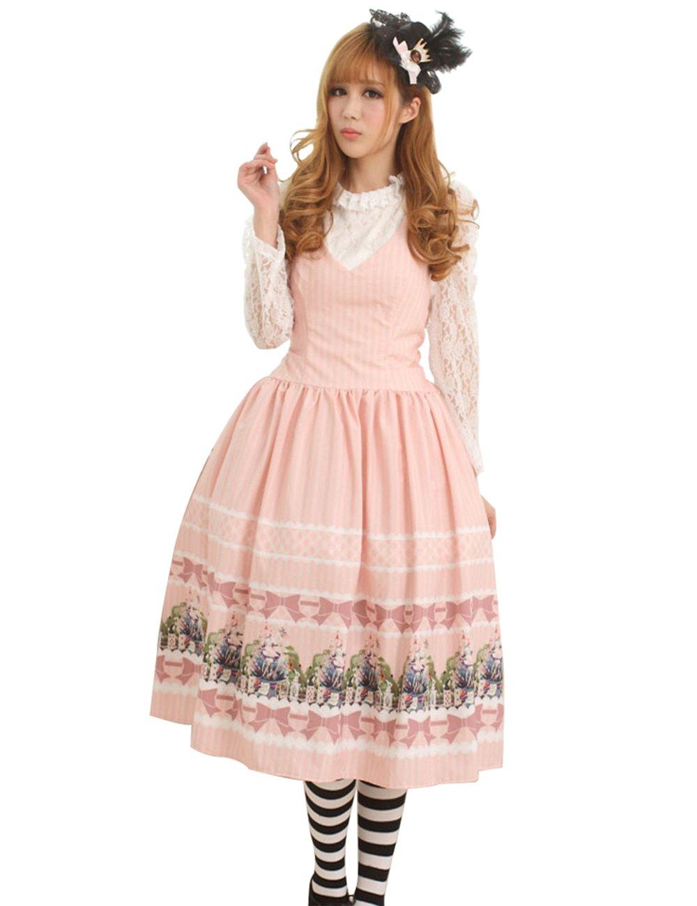 公主物语 洛丽塔 公主风 学院风 甜美公主裙粉红爱丽丝仙境原创设计收