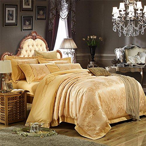 高档奢华纯棉贡缎提花四件套 欧式婚庆床上用品套件 全棉斜纹提花床单
