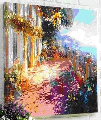 goya戈雅s0010无框手绘油画欧洲花园风景
