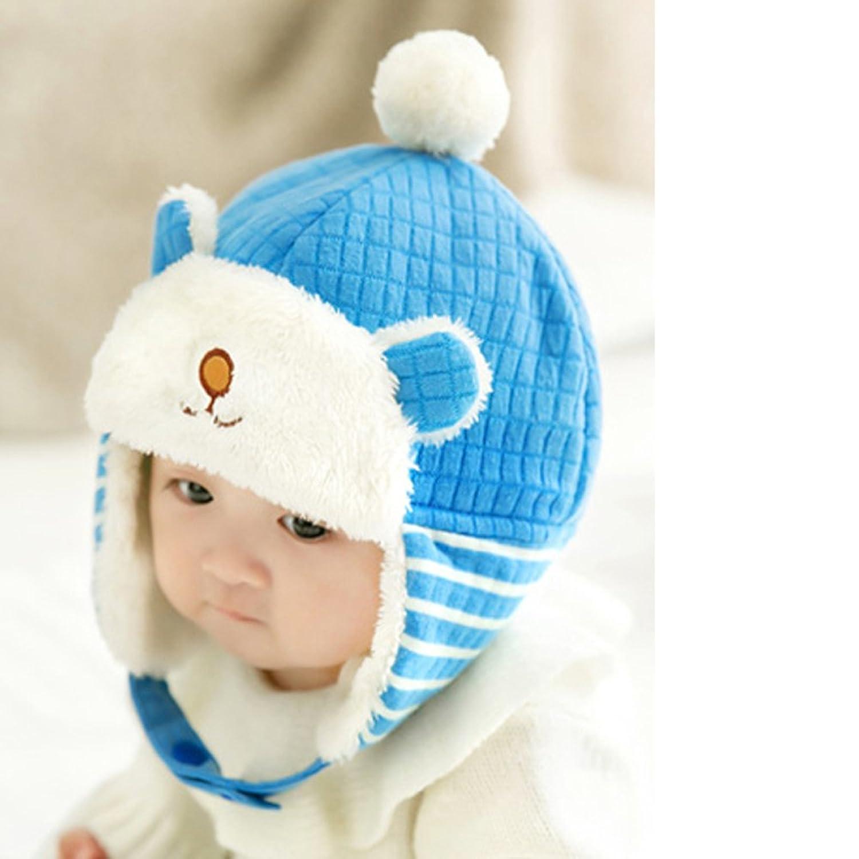 妈妈冬季婴儿帽宝宝套头帽子小熊雷锋帽护耳帽韩版3874