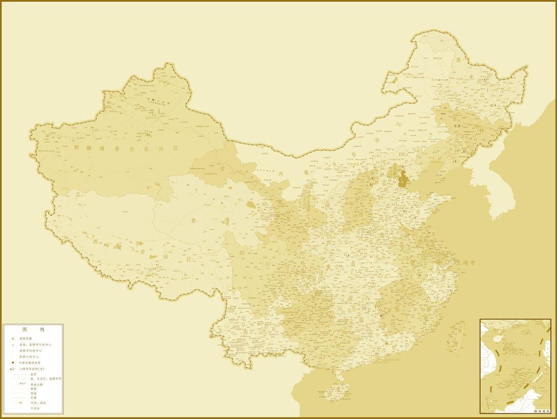迈科 世界地图 中国地图 墙纸 床头电视 背景墙 定制壁画 墙纸52 dyf