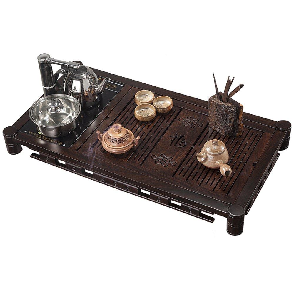茶艺世家 实木木雕 雕刻功夫茶具 家具 黑檀木 木料 品牌茶盘 福字