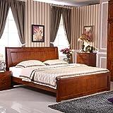 欧式实木卧房家具香樟木1.5图片