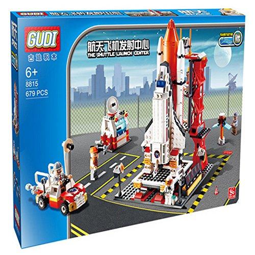 新gudi乐高式拼插积木儿童益智玩具航天系列系列航天飞机发射中心8815
