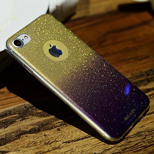 酷猫苹果7plus手机壳电子软壳炫彩闪粉iphone7plus手机套tpu保护套汽车v苹果硅胶挂钟图片