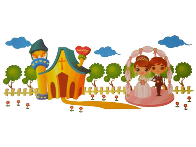 燚龙雅尚闪光墙贴 我们结婚了(zht-017)(赠儿童身高尺