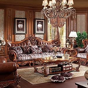 jiawen 嘉文 实木家具 橡木客厅家具 法式欧美风 s1121-1组合沙发 (三