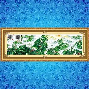 花十字绣新款客厅大幅山水大画盛世中华风景系列十字绣 3米高清图片