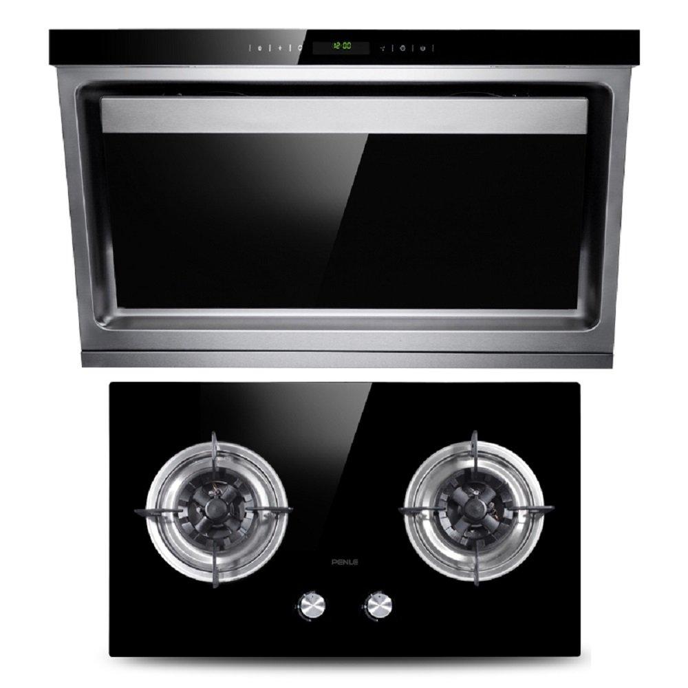 烹乐 双电机侧吸抽油烟机燃气灶套餐 烟机灶具套装 厨房电器 c2 608b