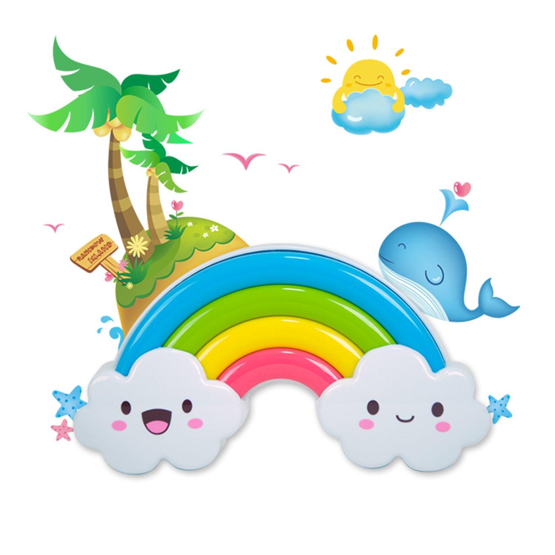 huanming 幻明 彩虹小夜灯节能创意婴儿童房 床头灯led声控灯 电池灯