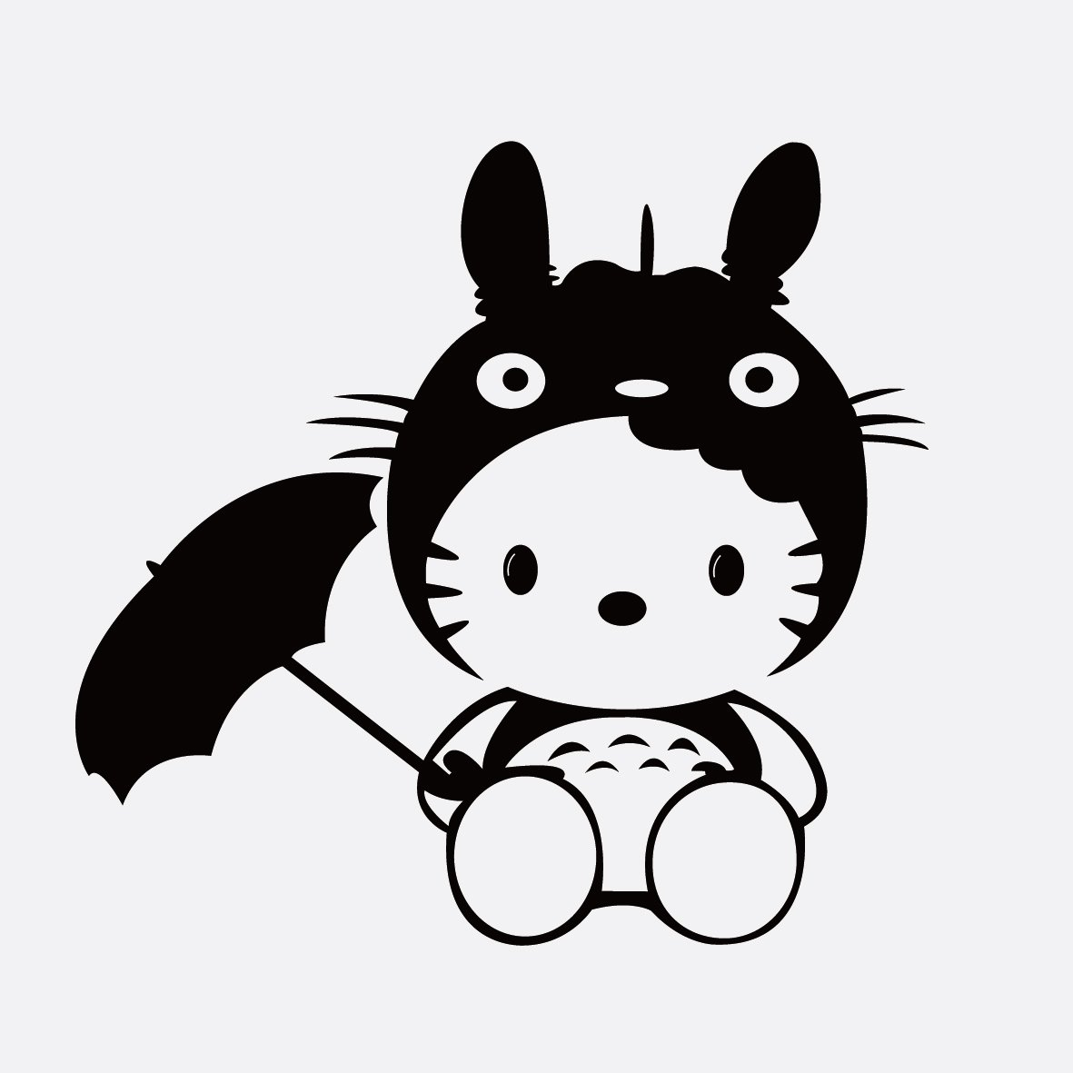 简笔画龙猫颜色