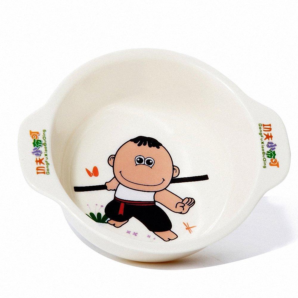 小布叮 新品功夫 原创卡通图案儿童密胺餐具 双耳圆碗小