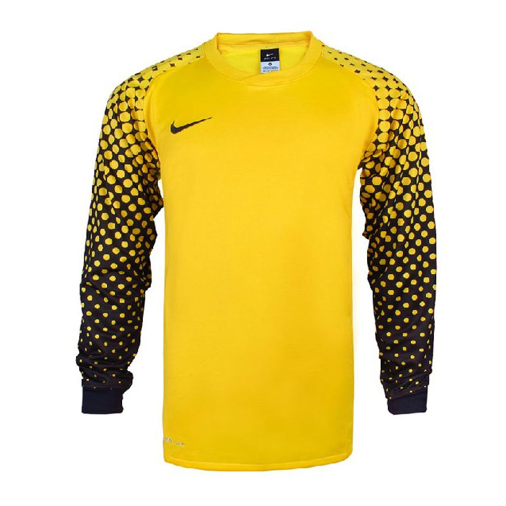 nike 耐克 中超守门员长袖足球服门将上衣带护肘龙门衫 361122 黄色 3