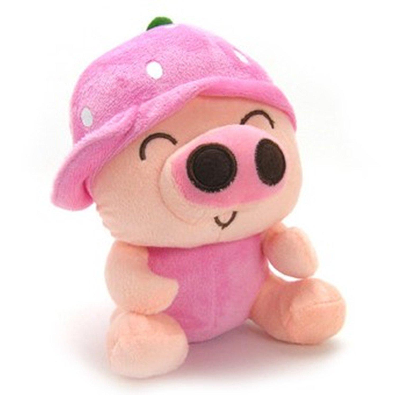 iloop 魔幻城堡 水果猪粉草莓毛绒玩具公仔可爱婚庆节日儿童女生娃娃