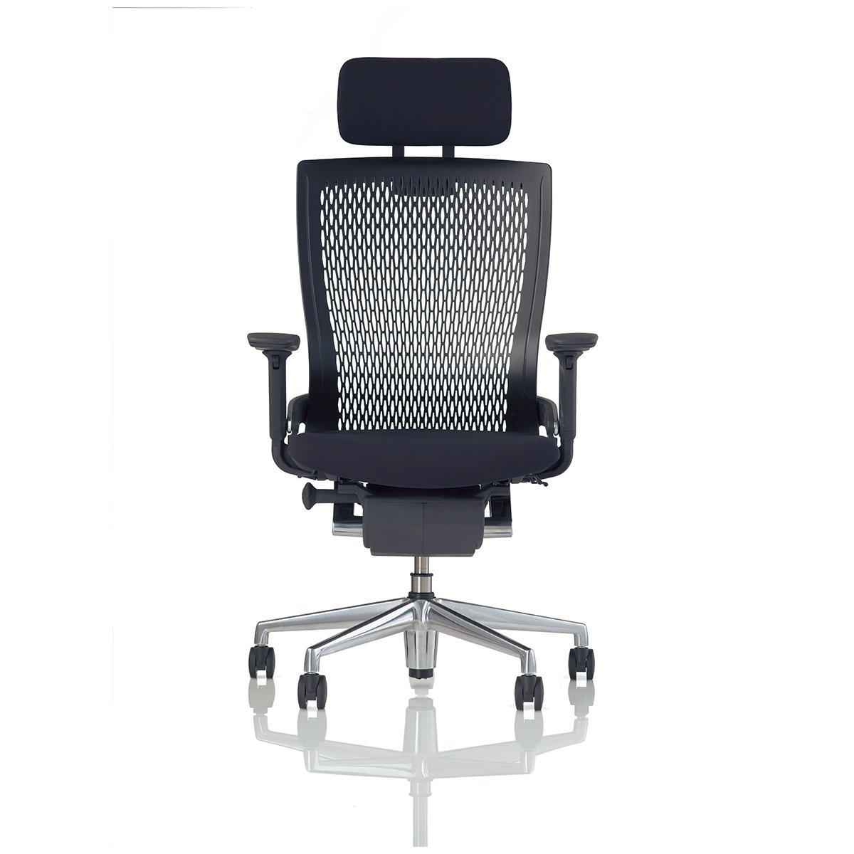 leadshine pulse 日本进口 电脑椅 高背椅办公椅子 黑色带头枕 日本