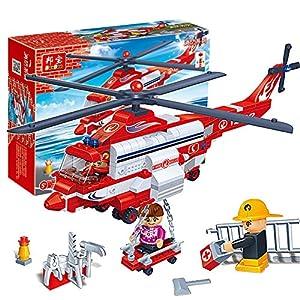消防直升机    儿子喜欢直升飞机,所以购买了这款玩具,价格比乐高