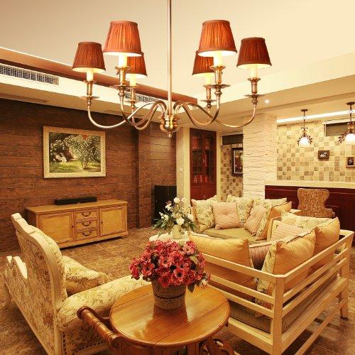 全铜灯欧式复古现代客餐厅灯卧室灯书房别墅纯铜吊