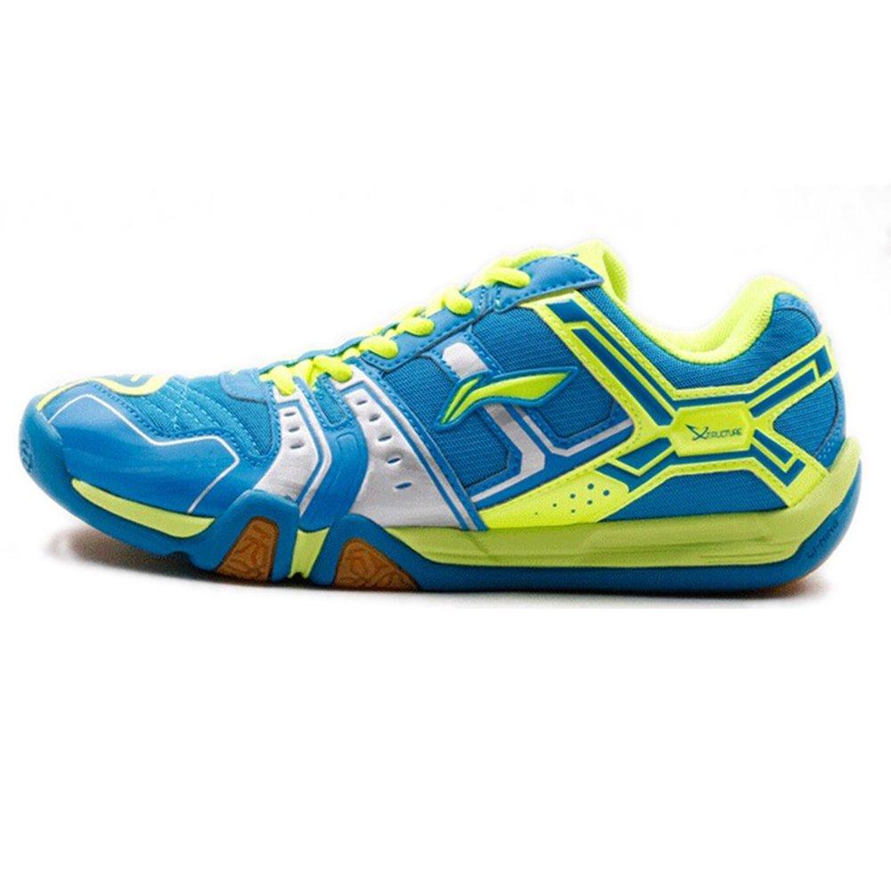 Lining 李宁 专业羽毛球鞋林丹英雄Hero二代TD版新款男款运动鞋AYTJ073 防滑耐磨 超轻透气 包裹性减震性强 (AYTJ073-4蓝绿色, 39.5码(内长245MM))