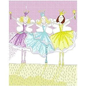 万众家园 十字绣 客厅卧室人物画 可爱卡通 小公主之朋友 9ct rs线 4