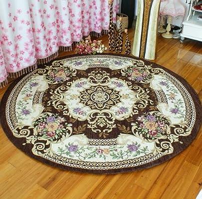 湛蓝 欧式宫廷婚庆客厅圆形茶几地毯卧室床边地毯160*