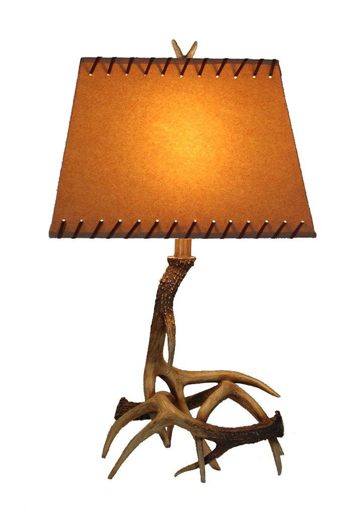美式乡村创意鹿角台灯图片