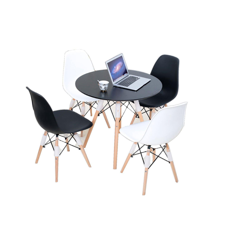 现代简约实木餐桌榉木四人餐桌