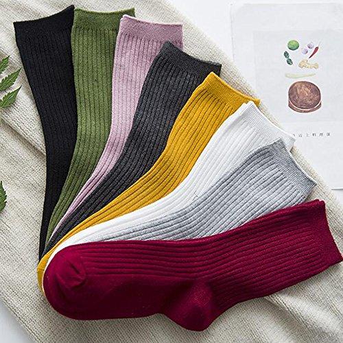 zhilu【森系靴下袜 全棉双针织法】袜子女 秋冬女袜子 棉袜 堆堆袜