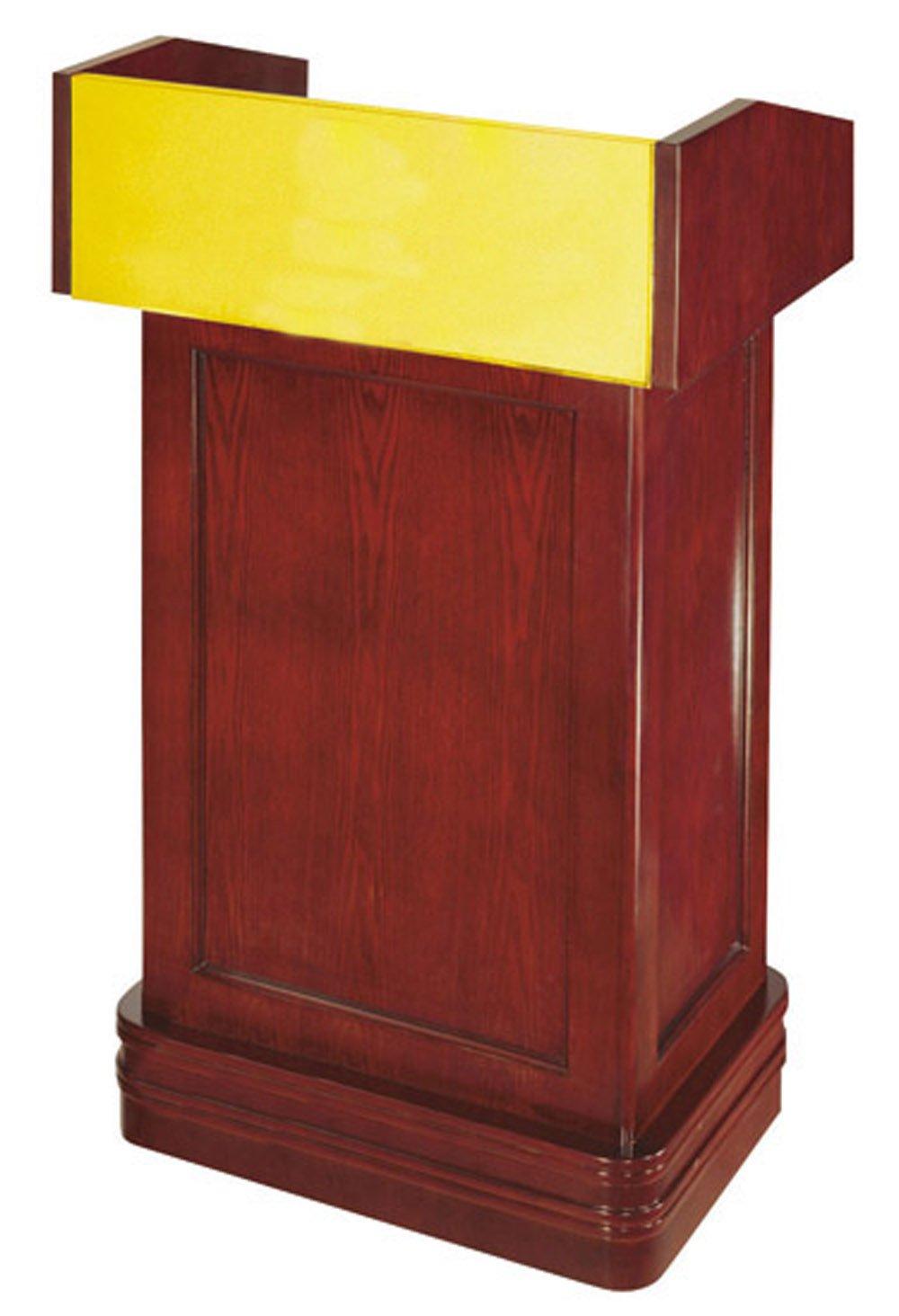 南方 演讲台 咨客台 讲台桌 迎宾台 讲话台 演讲桌 接待台带抽屉 铜木