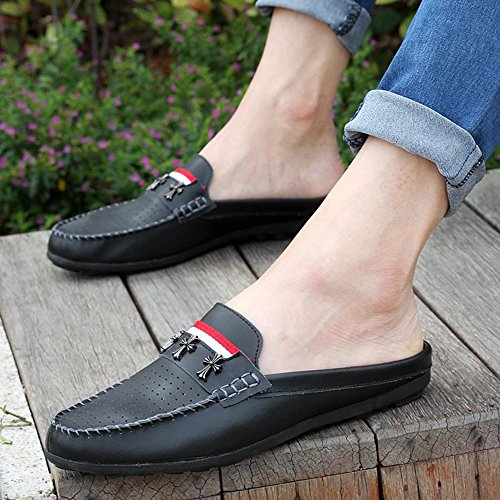 夏季休闲鞋 包头半拖鞋 男鞋子 男款休闲鞋