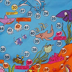 mamma 妈妈布书 海洋游戏 爬行毯 游戏毯 飞行棋三合一 配公仔 骰子