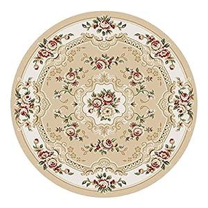 卓缘 经典欧式中式新古典田园地毯  【材质】:毯面:丙纶;背面:无背胶