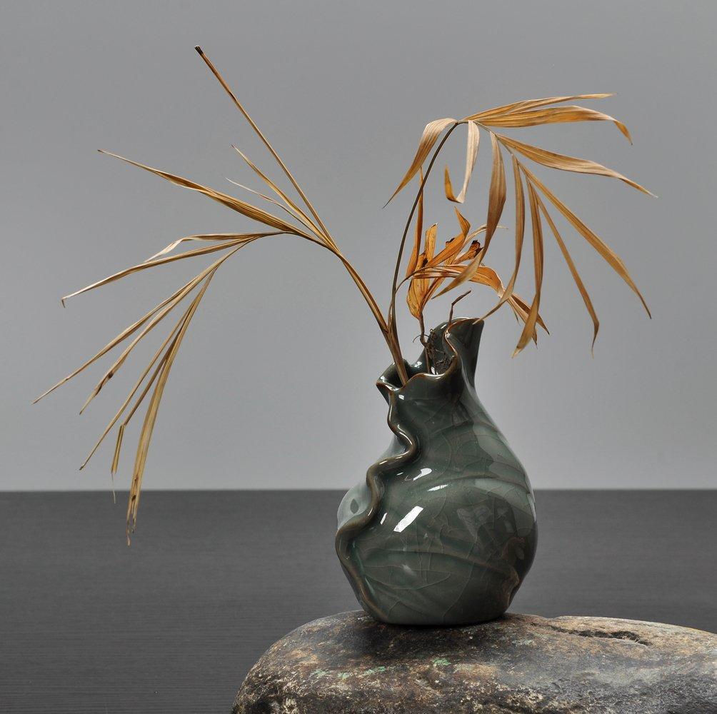 銮瓷 陶瓷创意摆件 手工个性时尚小花器 家居装饰品 水培花插花瓶