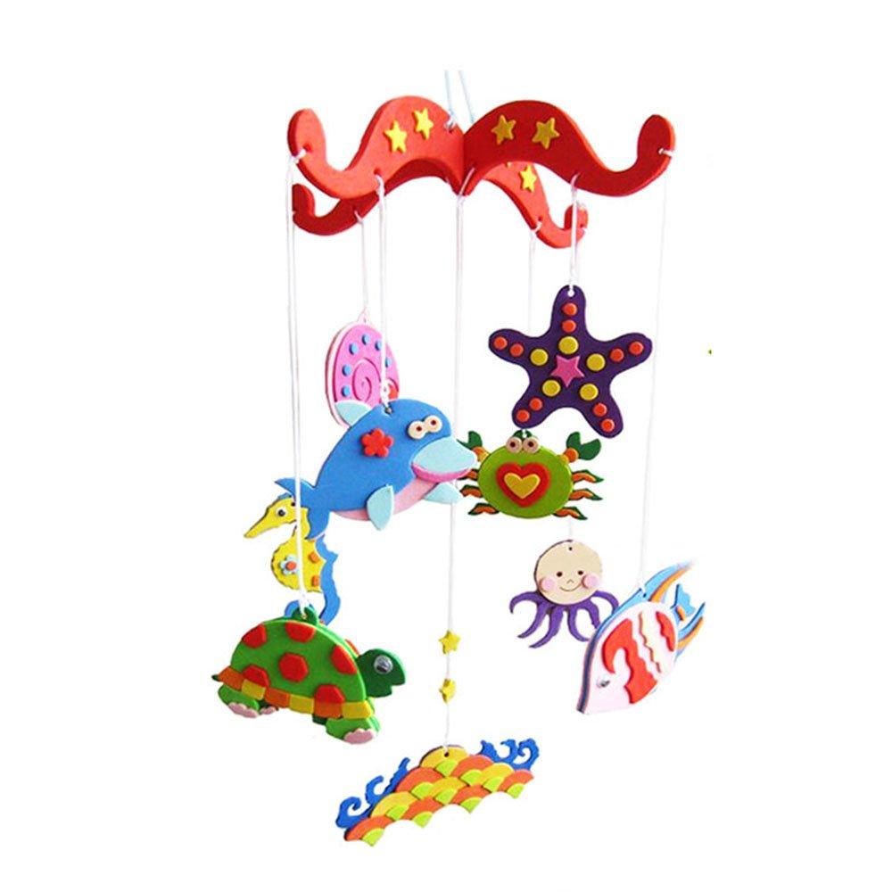 风铃粘贴画房间装饰3d挂饰手工diy材料制作立体幼儿园