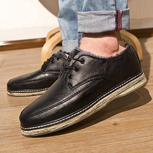 Yulu 优牛 秋冬时尚韩版潮流休闲加绒板鞋个性英伦布洛克潮男棉鞋运动板鞋