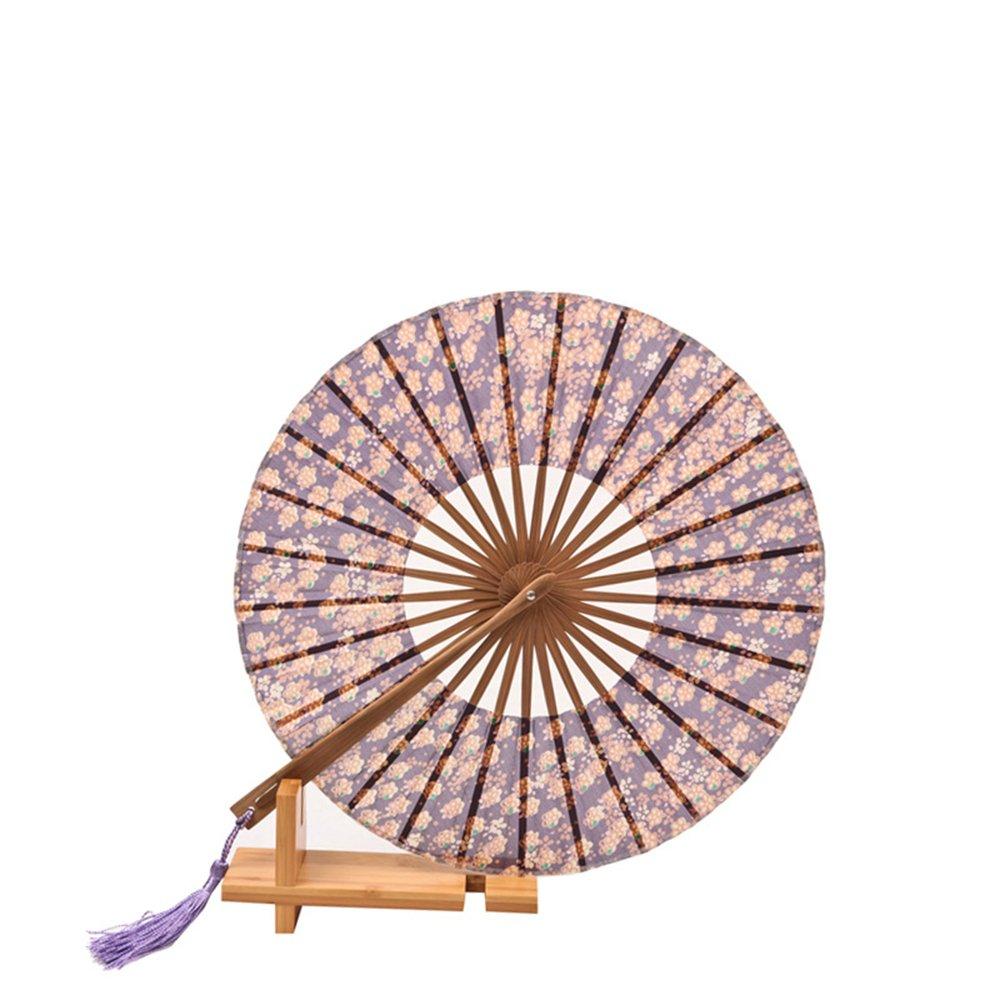吉善 杭画扇庄 中国风真丝女扇子 折扇团扇 圆扇绢扇