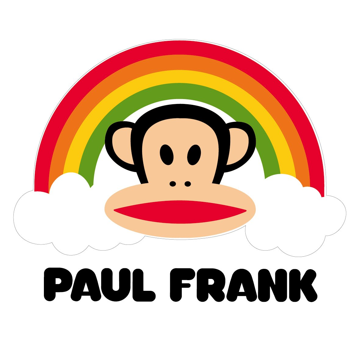 ky 卡艺 汽车贴纸 大嘴猴paulfrank 彩虹大嘴猴 搞笑可爱卡通 个性