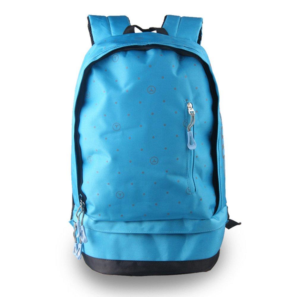 轻骑者 学生书包女式韩版双肩包女生户外背包大容量休闲包旅行包
