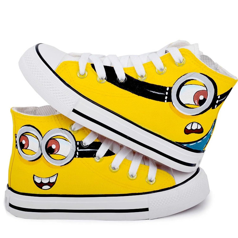 小黄人手绘儿童鞋