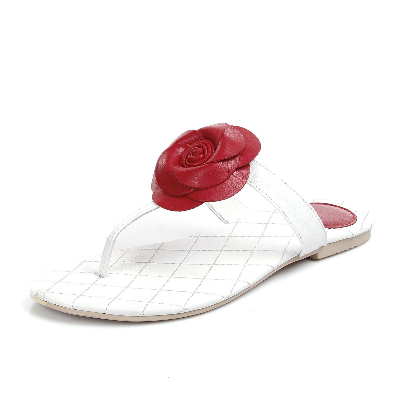 tachi塔驰新款真皮平底小香同款凉鞋女拖鞋平跟软