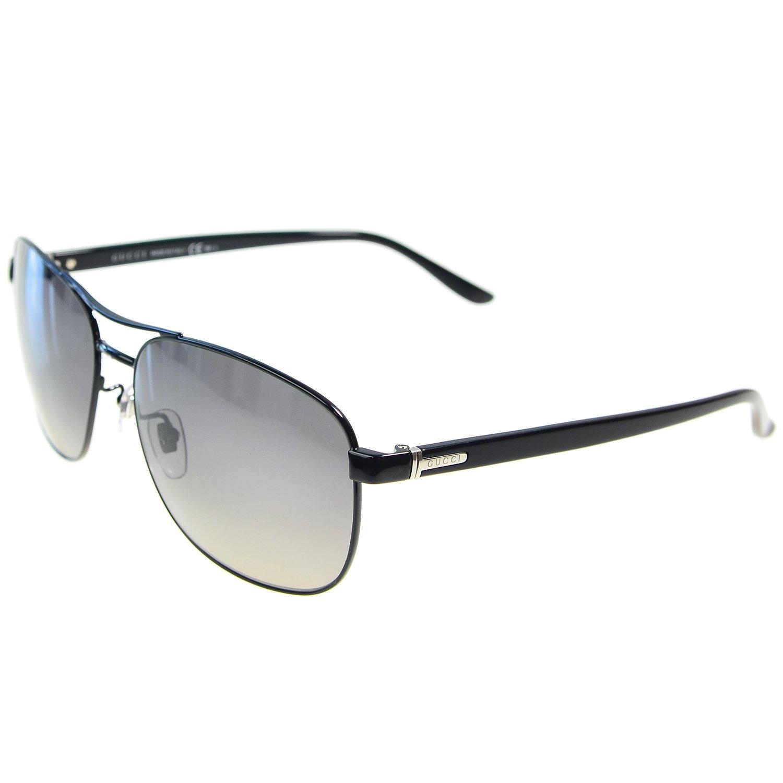 GUCCI古驰 男款黑色金属镜框太阳镜¥960 优惠码-120=840元