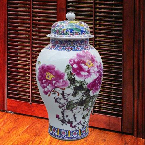 恒焱 景德镇陶瓷50斤米缸米桶 油桶 装饰花瓶 落地 将军罐 储物罐