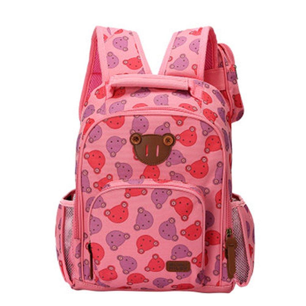 咔米嗒 小熊儿童包包小学生书包双肩背包女生有手机包